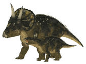 Adult and Young Nedoceratops — Stock Photo