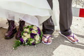 Purple Shoes — Stock Photo