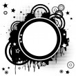 Abstract background with funky circles — Stock Photo