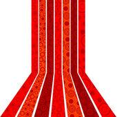Kırmızı çizgili ve daireler arka plan — Stok fotoğraf