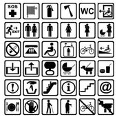 International service signs. All objects are isolated and groupe — Stock Photo