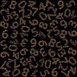 Stock Photo: Seamless pattern with numbers made of numbers