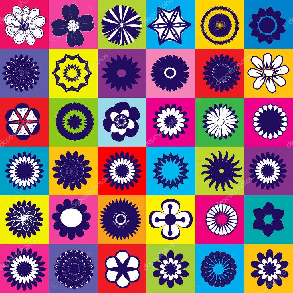 mod le de couleur transparente avec diff rents types de fleurs photographie hibrida13 11359211. Black Bedroom Furniture Sets. Home Design Ideas