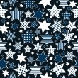 Stock Photo: Seamless pattern background with stylized stars