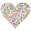Stock Photo: Love concept; heart made of . are made of all flags