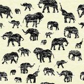 гранж backgorund с силуэты слонов — Стоковое фото