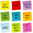 Royalty-Free Stock Photo: Sale announcements, set of post it