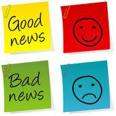Iyi haberler ve kötü haberler post — Stok fotoğraf