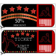 Sale voucher and ticket for night club or casino — Stock Photo #11699530