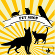 Pet shop advertising — Zdjęcie stockowe #11699546