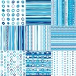Set of blue seamless pattern for baby boys — Stock Photo #12089034