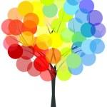 Rainbow colors tree — Stock Photo