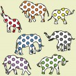 Stock Photo: Background for kids with dotted elephants