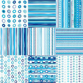 Set of blue seamless pattern for baby boys — Stock Photo