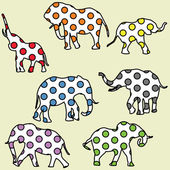 Background for kids with dotted elephants — Stock Photo