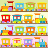 Cartoon trains backgrounds for kids — Stock Photo