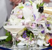 Champagne on wedding — Stock Photo