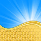 Honeycomb and sky — Stock Photo