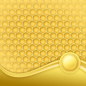 Honeycomb with wax — Stockfoto