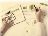 Business Data Analyzing — Stock Photo