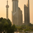 Shanghai lujiazui financial center aside the huangpu river — Stock Photo