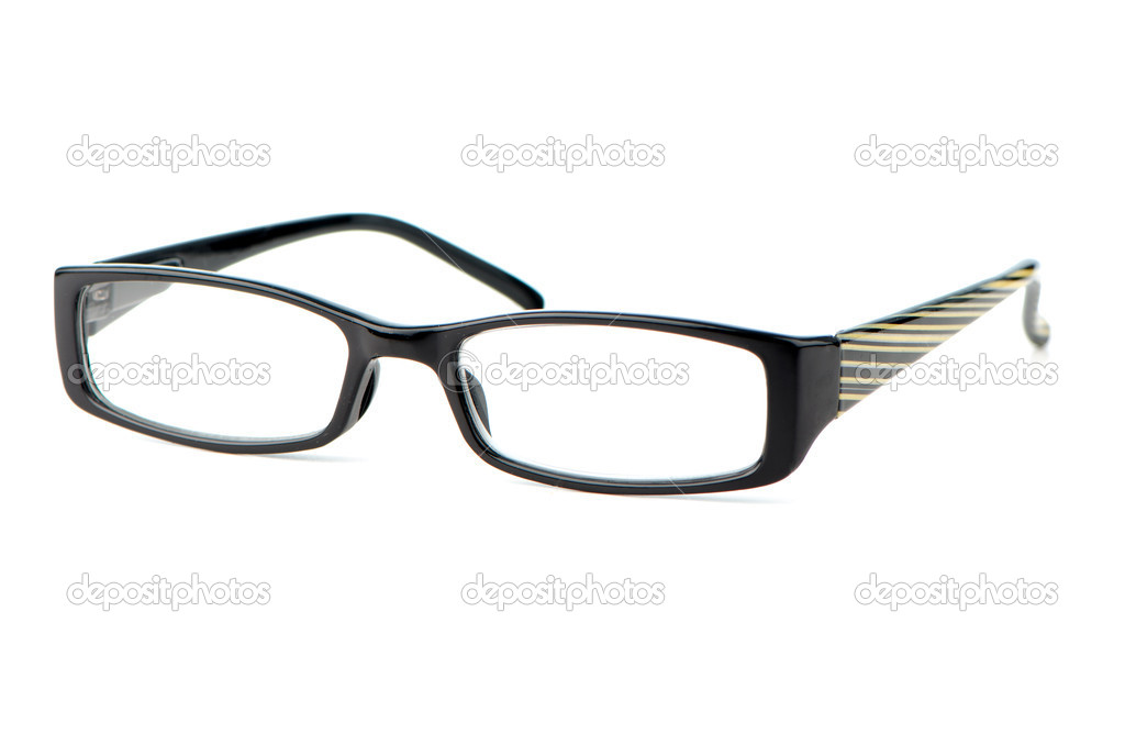 Black eyeglasses on white background. — Stock Photo #10918688