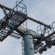 Mast of a chairlift - Stock Photo