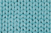 Blue knitted wool — Stock Photo