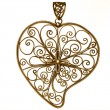 Golden heart shaped ornament — Stock Photo
