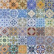Stock Photo: Set of 48 ceramic tiles patterns