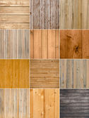 Set of 12 wood background — Stock Photo