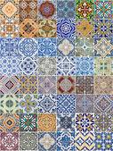 Conjunto de 48 patrones de baldosas cerámicas — Foto de Stock