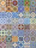 Set of 48 ceramic tiles patterns — Stockfoto