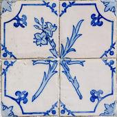Niebieskie płytki szczegół portugalski glazurowana — Zdjęcie stockowe