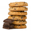 Chocolate chip cookies with chocolate parts — Stock Photo #11313451