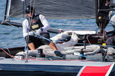 Alinghi compete in the Extreme Sailing Series — Stock Photo