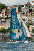 Oman Air compete in the Extreme Sailing Series — Stock Photo