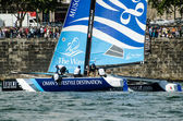 The Wave - Muscat compete in the Extreme Sailing Series — Stock Photo