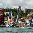 Participants compete in the Extreme Sailing Series — Stock Photo