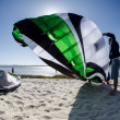 Stock Photo: Participants in Portuguese National Kitesurf Championship 20