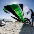 Participants in the Portuguese National Kitesurf Championship 20 - Stock Photo