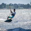 Paulo Azevedo in the Portuguese National Kitesurf Championship 2 — Stock Photo