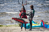 Participants in the Portuguese National Kitesurf Championship 20 — Stock Photo