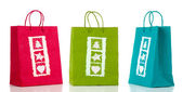 Three paperbags — Stock Photo