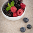 Bowl of berries fruits - Stock Photo