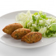 torsk fritters — Stockfoto