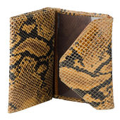 Snake skin leather wallet — Stock Photo