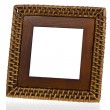 Bamboo weave picture frame — Stock Photo