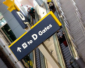 Sign to Gate in Typical American Airport — Stock Photo