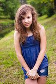 Nieśmiała dziewczyna — Zdjęcie stockowe